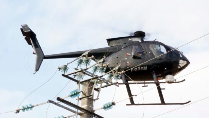 Inspection Réseaux Electriques en hélicoptère